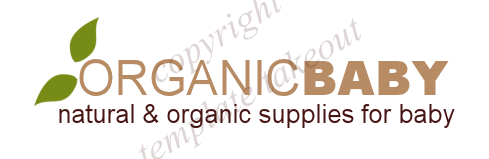 Organic Baby Green and Natural Premade Logo Design