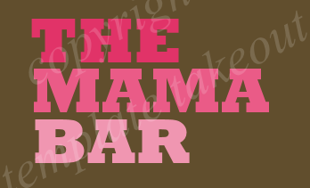 The Mama Bar Pink and Brown Premade Logo Design